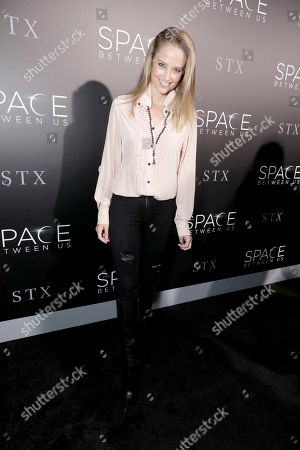 """Genevieve Morton seen at STX Entertainment Los Angeles Special Screening of """"The Space Between Us"""" at ArcLight Hollywood, in Los Angeles"""