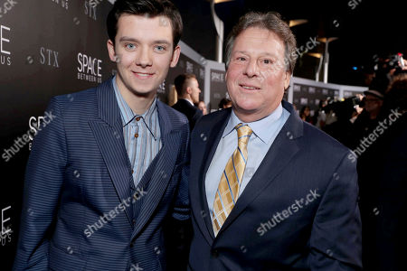 "Asa Butterfield and Writer/Producer Richard Barton Lewis seen at STX Entertainment Los Angeles Special Screening of ""The Space Between Us"" at ArcLight Hollywood, in Los Angeles"