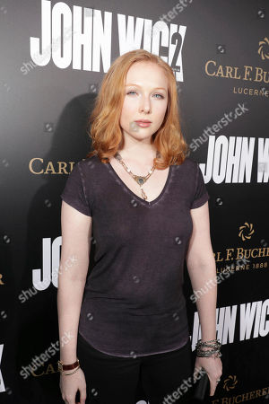 """Molly Quinn seen at Summit Entertainment, a Lionsgate Company, Los Angeles Premiere of """"John Wick Chapter 2"""" at ArcLight Hollywood, in Los Angeles"""
