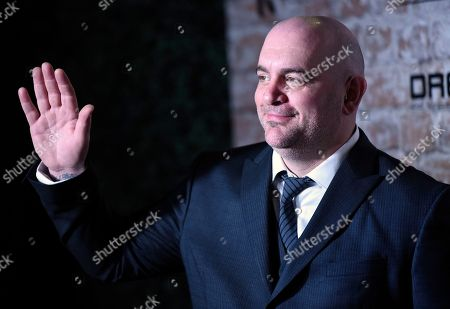 Stock Image of Chris Santos arrives at the TAO, Beauty and Essex, Avenue and Luchini Los Angeles grand opening on