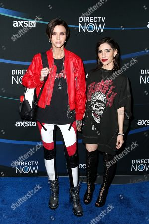 Ruby Rose, left, and Jessica Origliasso attend the 2017 DIRECTV NOW Super Saturday Night Concert at Club Nomadic on in Houston, Texas