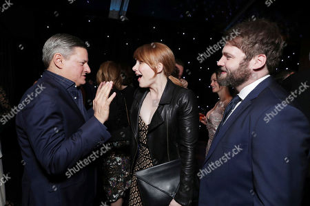 Netflix Chief Content Officer Ted Saranos, Bryce Dallas Howard and Seth Gabel seen at Ted Sarandos' 2017 Netflix Screen Actors Guild Nominee Toast, in Los Angeles, CA