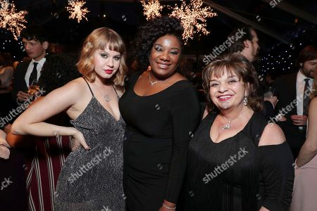 Emily Althaus, Adrienne C. Moore and Lin Tucci seen at Ted Sarandos' 2017 Netflix Screen Actors Guild Nominee Toast, in Los Angeles, CA