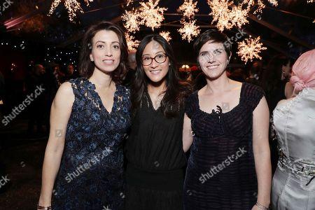 Laura Ricciardi, Netflix VP of Original Documentary Lisa Nishimura and Moira Demos seen at Ted Sarandos' 2017 Netflix Screen Actors Guild Nominee Toast, in Los Angeles, CA