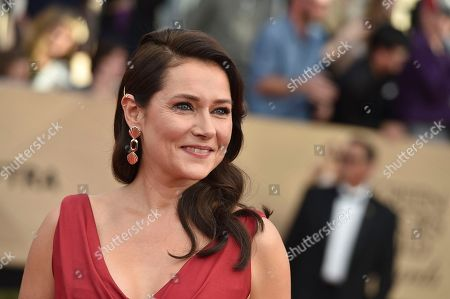 Sidse Babett Knudsen arrives at the 23rd annual Screen Actors Guild Awards at the Shrine Auditorium & Expo Hall, in Los Angeles