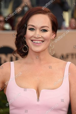 Mamrie Hart arrives at the 23rd annual Screen Actors Guild Awards at the Shrine Auditorium & Expo Hall, in Los Angeles