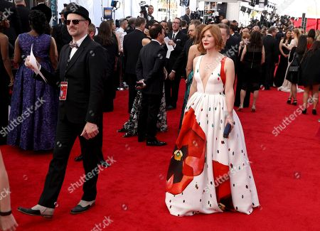 Trin Miller arrives at the 23rd annual Screen Actors Guild Awards at the Shrine Auditorium & Expo Hall, in Los Angeles