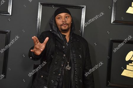Malik Yusef arrives at the 59th annual Grammy Awards at the Staples Center, in Los Angeles