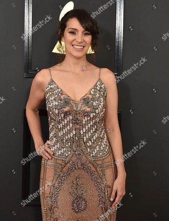 Stock Picture of Gaby Moreno arrives at the 59th annual Grammy Awards at the Staples Center, in Los Angeles