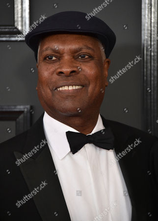 Booker T. Jones arrives at the 59th annual Grammy Awards at the Staples Center, in Los Angeles
