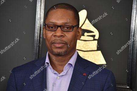 Ravi Coltrane arrives at the 59th annual Grammy Awards at the Staples Center, in Los Angeles