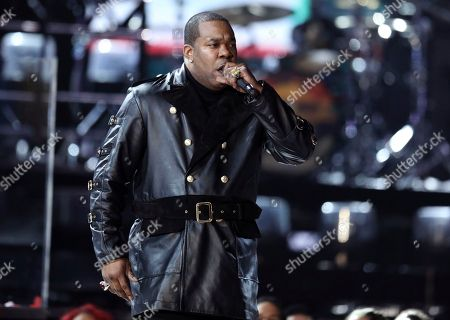 Jarobi White, from A Tribe Called Quest, performs at the 59th annual Grammy Awards, in Los Angeles