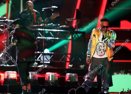 Stock Image of Jarobi White performs at the 59th annual Grammy Awards, in Los Angeles