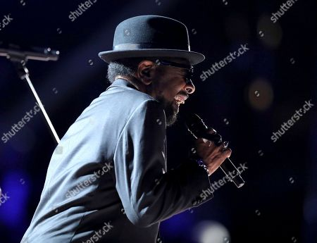 "William Bell performs ""Born Under a Bad Sign"" at the 59th annual Grammy Awards, in Los Angeles"