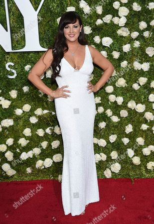 Stock Photo of Rachel Potter arrives at the 71st annual Tony Awards at Radio City Music Hall, in New York