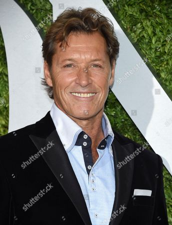 Ron Duguay arrives at the 71st annual Tony Awards at Radio City Music Hall, in New York