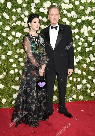 Stock Picture of Phoebe Cates, left, and Kevin Kline arrive at the 71st annual Tony Awards at Radio City Music Hall, in New York