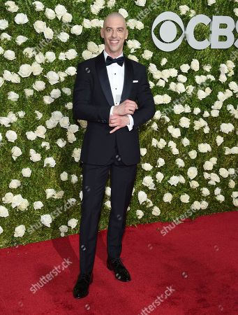Christian Borle arrives at the 71st annual Tony Awards at Radio City Music Hall, in New York