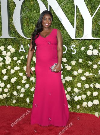 Patina Miller arrives at the 71st annual Tony Awards at Radio City Music Hall, in New York