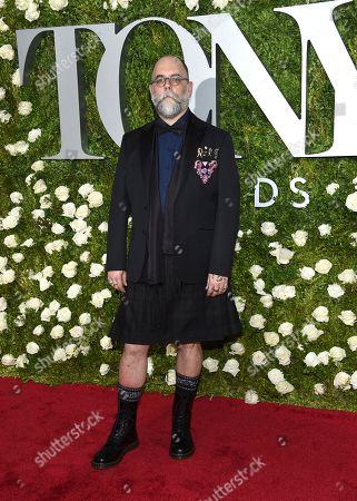 David Zinn arrives at the 71st annual Tony Awards at Radio City Music Hall, in New York