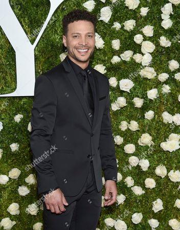 Justin Guarini arrives at the 71st annual Tony Awards at Radio City Music Hall, in New York
