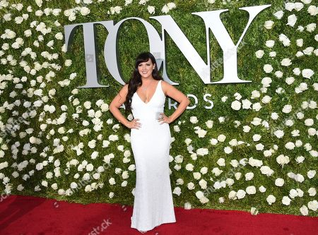 Rachel Potter arrives at the 71st annual Tony Awards at Radio City Music Hall, in New York