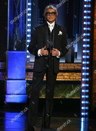 "Tommy Tune introduces a performance by the cast of ""Hello Dolly!"" at the 71st annual Tony Awards, in New York"