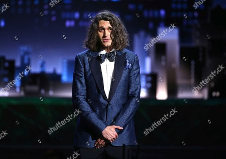 Lucas Hnath speaks at the 71st annual Tony Awards, in New York