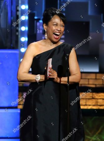 Stock Picture of Baayork Lee accepts the Isabelle Stevenson Tony award at the 71st annual Tony Awards, in New York