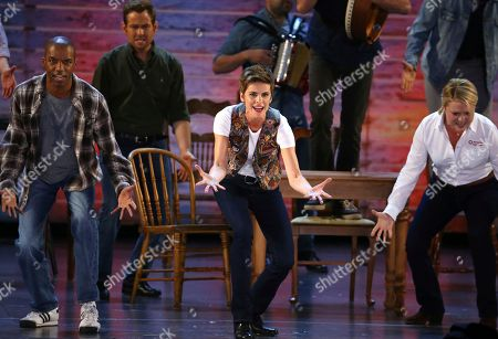 """Jenn Colella and the cast of """"Come From Away"""" perform at the 71st annual Tony Awards, in New York"""