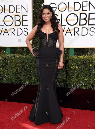 Tracey Edmonds arrives at the 74th annual Golden Globe Awards at the Beverly Hilton Hotel, in Beverly Hills, Calif