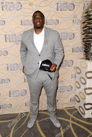 Donovan Carter arrives at the HBO Golden Globes afterparty at the Beverly Hilton Hotel, in Beverly Hills, Calif
