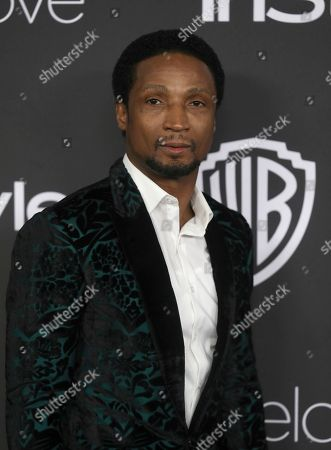 Elvis Nolasco arrives at the InStyle and Warner Bros. Golden Globes afterparty at the Beverly Hilton Hotel, in Beverly Hills, Calif