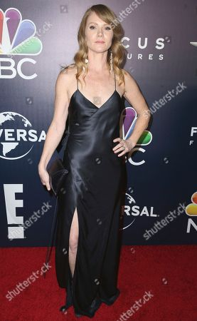 Tara Buck arrives at the NBCUniversal Golden Globes afterparty at the Beverly Hilton Hotel, in Beverly Hills, Calif