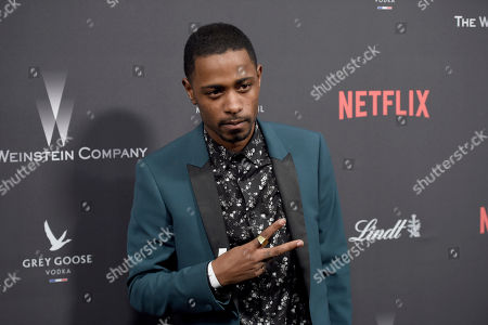 Keith Stanfield arrives at The Weinstein Company and Netflix Golden Globes afterparty at the Beverly Hilton Hotel, in Beverly Hills, Calif