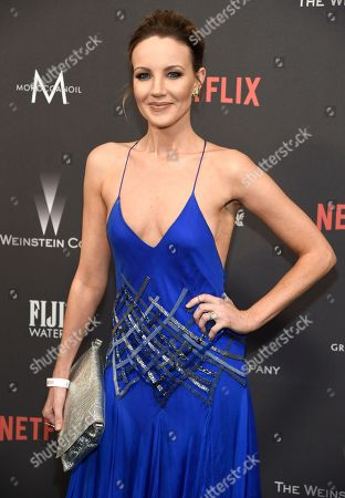 Brianne Davis arrives at The Weinstein Company and Netflix Golden Globes afterparty at the Beverly Hilton Hotel, in Beverly Hills, Calif