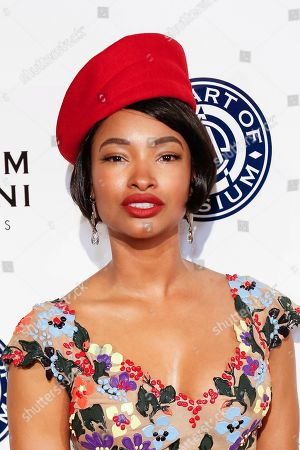 Stock Image of Angelique Cinelu arrives at The Art of Elysium's 10th Annual Heaven Gala at Red Studios, in Los Angeles