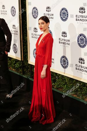 Lisa Origliasso arrives at The Art of Elysium's 10th Annual Heaven Gala at Red Studios, in Los Angeles