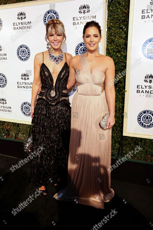 Laura Dunn, left, and Beau Dunn arrive at The Art of Elysium's 10th Annual Heaven Gala at Red Studios, in Los Angeles