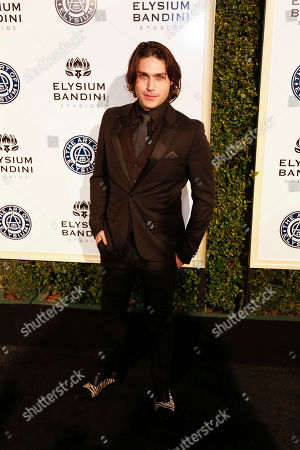 Stock Picture of Logan Huffman arrives at The Art of Elysium's 10th Annual Heaven Gala at Red Studios, in Los Angeles