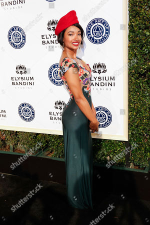 Angelique Cinelu arrives at The Art of Elysium's 10th Annual Heaven Gala at Red Studios, in Los Angeles