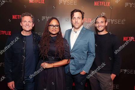 Greg Whiteley, Ava DuVernay, Brian McGinn and Ryan White seen at The IDA showcasing Netflix Original Documentaries at Netflix FYSee, in Los Angeles, CA