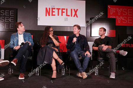 Brian McGinn, Ava DuVernay, Greg Whiteley and Ryan White seen at The IDA showcasing Netflix Original Documentaries at Netflix FYSee, in Los Angeles, CA