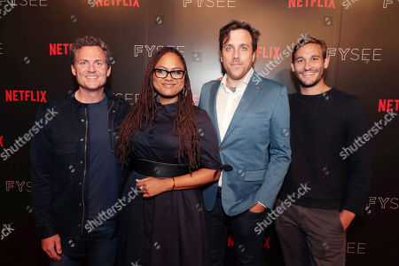 Stock Picture of Greg Whiteley, Ava DuVernay, Brian McGinn and Ryan White seen at The IDA showcasing Netflix Original Documentaries at Netflix FYSee, in Los Angeles, CA