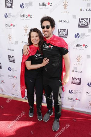Katie Lowes and Adam Shapiro seen at The Lollipop Super Hero Walk 2017 benifiting the Lollipop Theatre Network at The Grove on Suday, in Los Angeles, CA