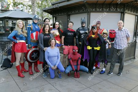 Executive Director of LOLLIPOP - Evelyn Iocolano, Elizabeth Gabler, Billy Bush and Chris Aronson seen at The Lollipop Super Hero Walk 2017 benifiting the Lollipop Theatre Network at The Grove on Suday, in Los Angeles, CA
