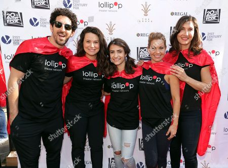 Adam Shapiro, Katie Lowes, Soni Bringas, Candace Cameron-Bure and Executive Director of LOLLIPOP - Evelyn Iocolano seen at The Lollipop Super Hero Walk 2017 benifiting the Lollipop Theatre Network at The Grove on Suday, in Los Angeles, CA