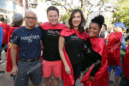 Tony Safford, Billy Bush, Executive Director of LOLLIPOP - Evelyn Iocolano and Yvette Nicole Brown seen at The Lollipop Super Hero Walk 2017 benifiting the Lollipop Theatre Network at The Grove on Suday, in Los Angeles, CA