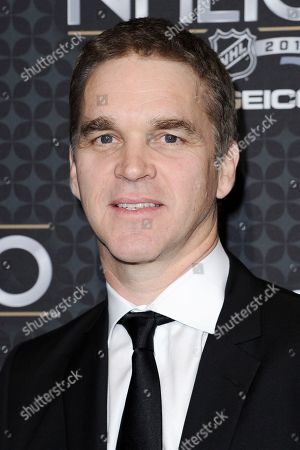 Stock Image of Luc Robitaille arrives at the The NHL100 Gala held at the Microsoft Theater, in Los Angeles