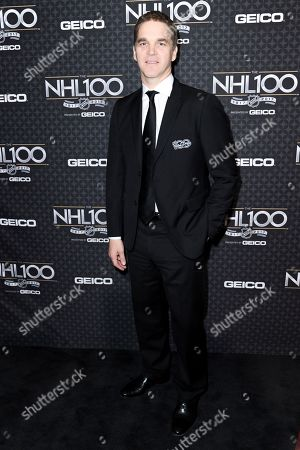 Luc Robitaille arrives at the The NHL100 Gala held at the Microsoft Theater, in Los Angeles